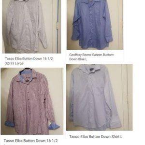 Men's Dress Shirts- Tasso Elba -Geoffrey Beene